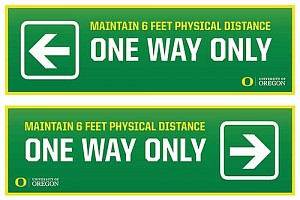 One way directional signs