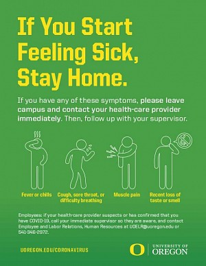 If you start feeling sick, stay home.